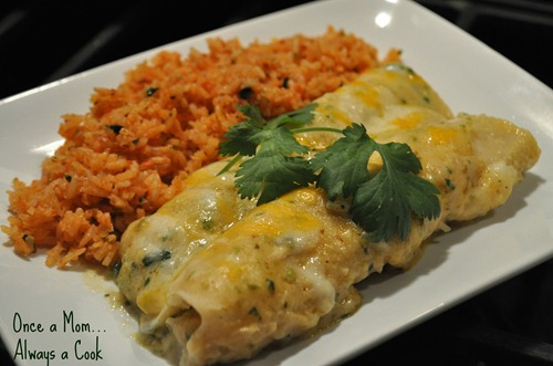 Chicken Enchiladas with a Cream of Jalapeno Sauce