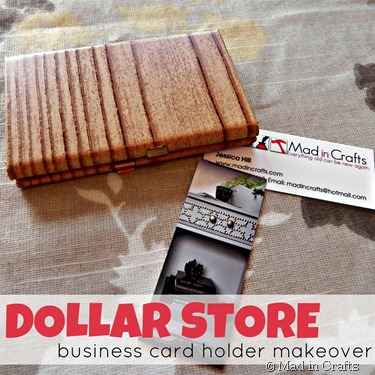 dollar store business card holder makeover