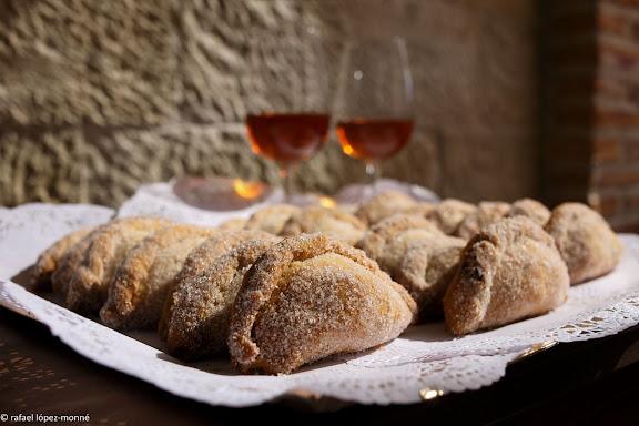 Casquetes tradicionals (pastissets).Restaurant Can JosepBot, Terra Alta, Tarragona