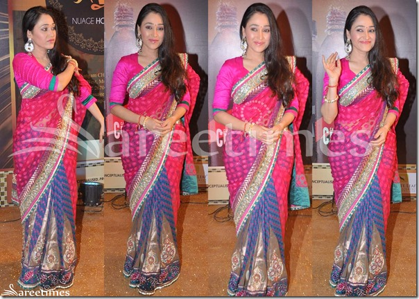 Pink_BLue_Half_and_Half_Saree