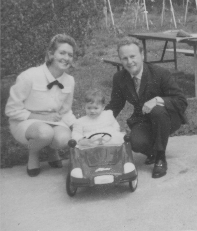 Reed Erickson with family. Circa late 1960s.
