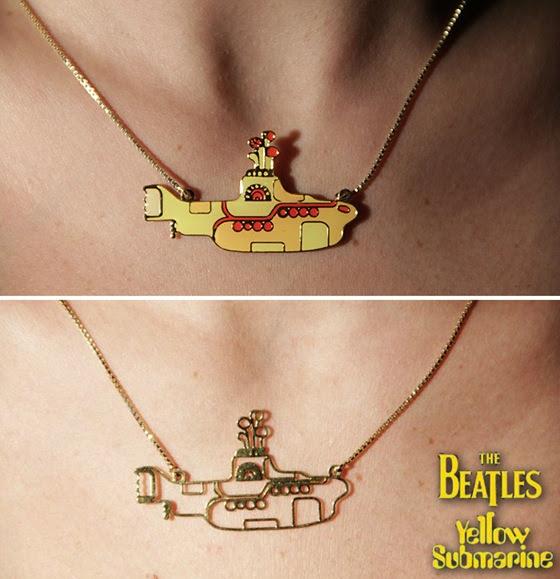 Adesivo De Parede Yellow Submarine ~ Colar Yellow Submarine dos Beatles na Roxy Acessórios
