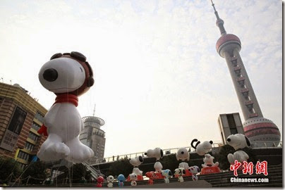 Snoopy at Pearl Square , IFC Mall, LuJiaZui, Shanghai 史努比。上海 01