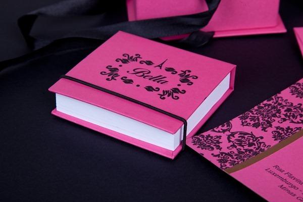 bella convite aniversário personalizado lembrancinha paris preto e rosa IMG_3845 (10)