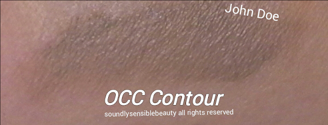 "OCC Colour Cream Concentrate Contour; Swatches of shade ""john doe"""