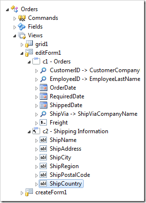 All shipping data fields moved into 'Shipping Information' category.