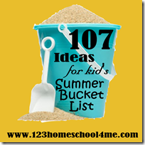 summer bucket list - kids activities