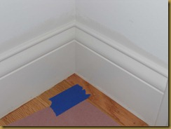dining room trim baseboard chopped