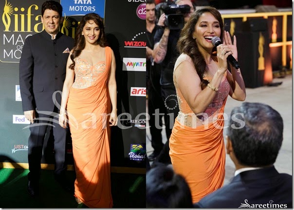 Madhuri_Dixit_Orange_Sari