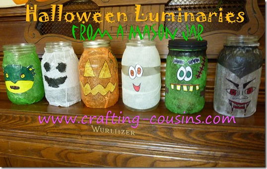 Halloween Luminaries from a Mason jar (15)