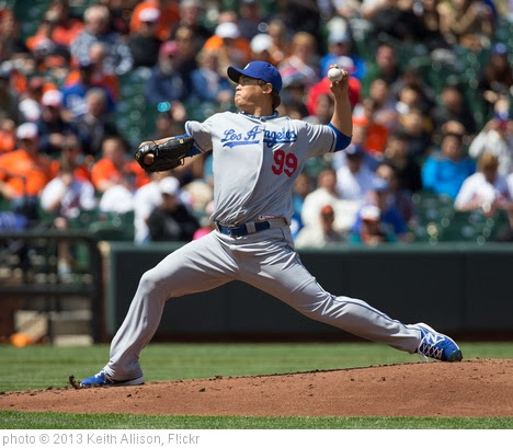 'Hyun-Jin Ryu' photo (c) 2013, Keith Allison - license: http://creativecommons.org/licenses/by-sa/2.0/