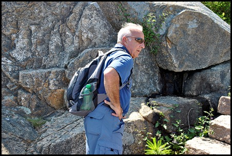 02e - hiking Ocean Path - Bill getting use to the height
