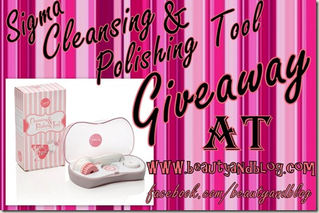 Giveaway Sigma Cleansing And Polishing Tool