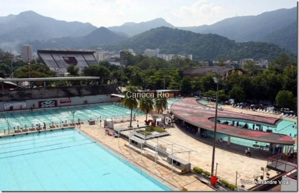 O complexo de piscinas, que deve ganhar novos blocos de partida e raias