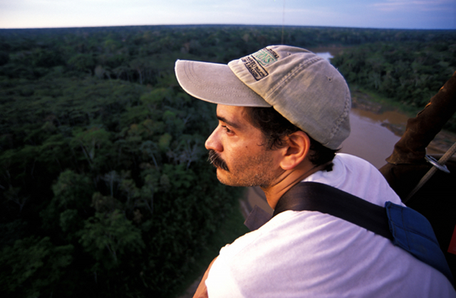 Peruvian conservationist, Ernesto Ráez-Luna, 45, a prominent Peruvian ecologist and environmentalist, has spent his career fighting for the Amazon rain forest. In 2011, he was appointed as an adviser to Peru's Ministry of the Environment. But in July 2014, Ráez-Luna resigned over the administration's support of a law that, to the horror of environmental groups around the world, rolled back many green policies established in Peru during the past decade. Photo: Whitley Fund for Nature