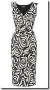 Rose Print Jersey Dress