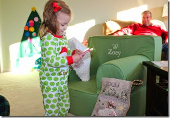 Zoey Opening Christmas From Santa8