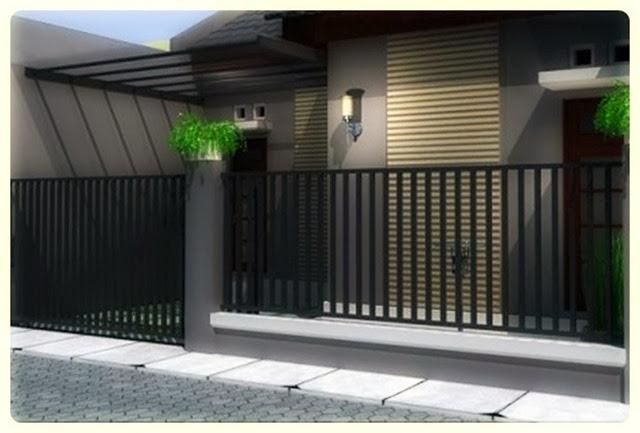 model pagar minimalis sederhana
