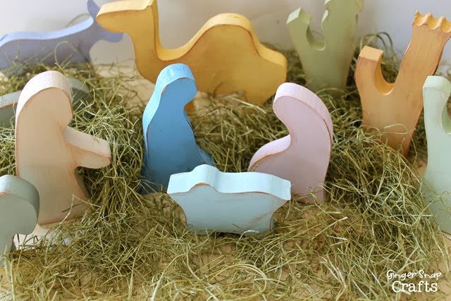 hand painted nativity #ad