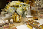 Center piece and table number idea sparkles.