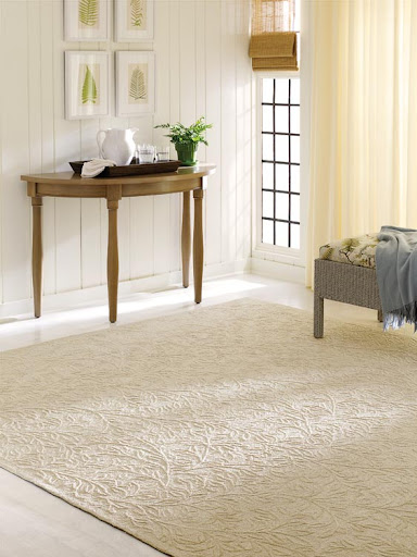 The relief texture of this rug is appealing for both feel and aesthetics.