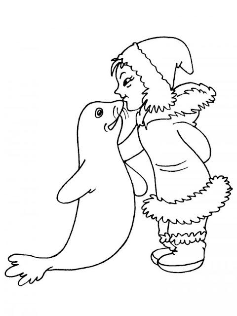 Colorear dibujos de esquimales - Coloriage de phoque ...