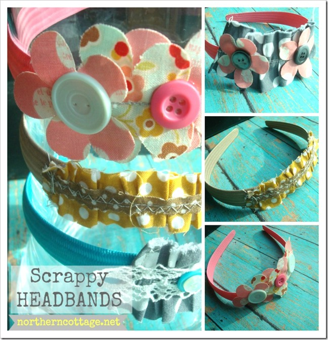 Northern Cottage-  scrappy headband collage