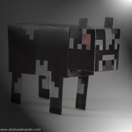 paper toy minecraft vaca
