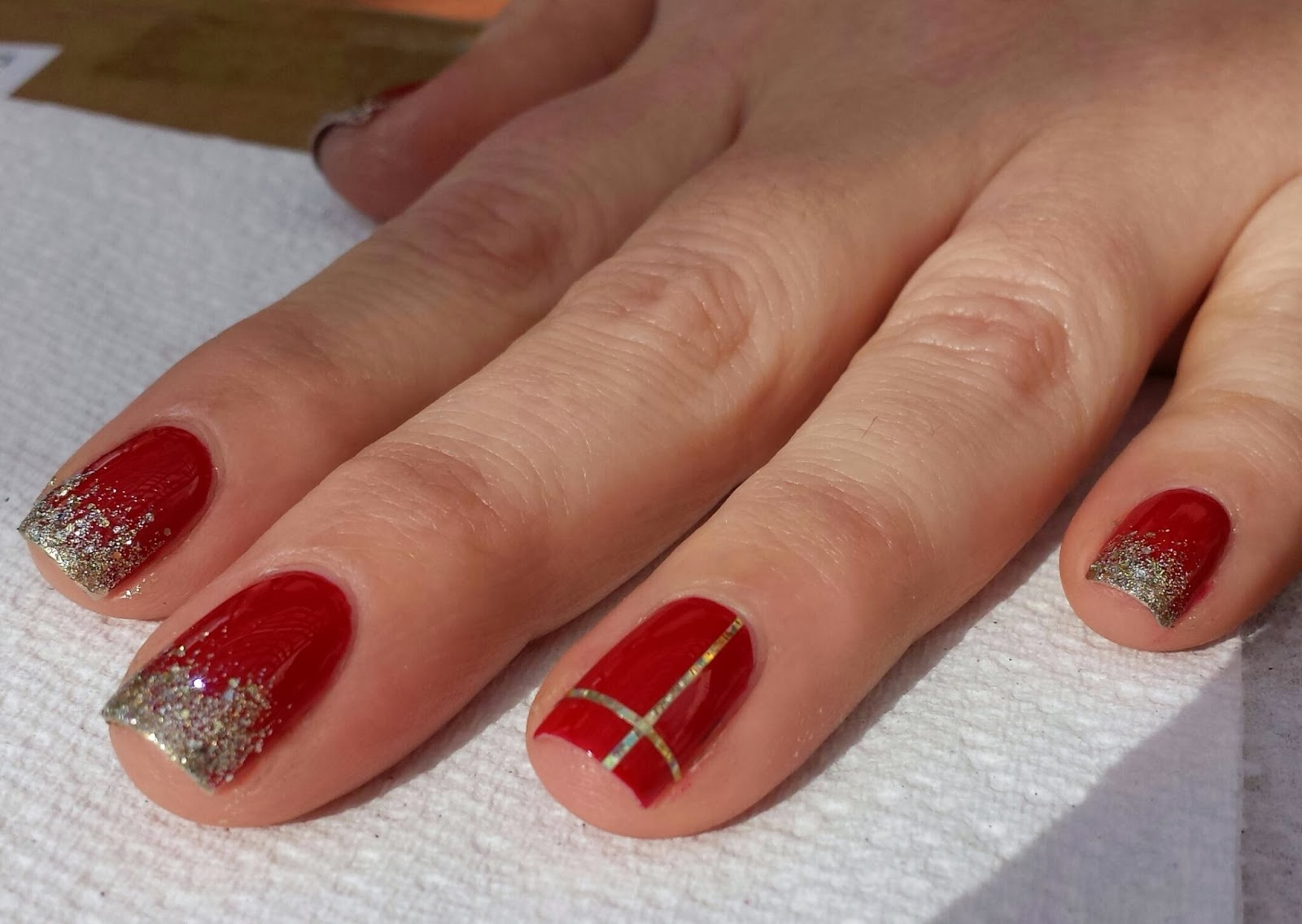 The Lacquered & Manicured Mom: Holiday Nail Tutorial - Red Nails ...