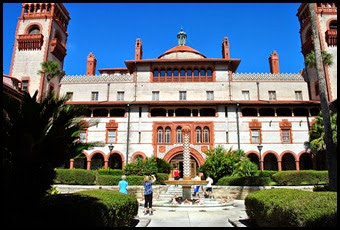 07c - Flagler College - Courtyard and Great Hall Entrance