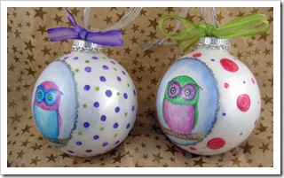 Pretty Little Owl Ornaments -right side