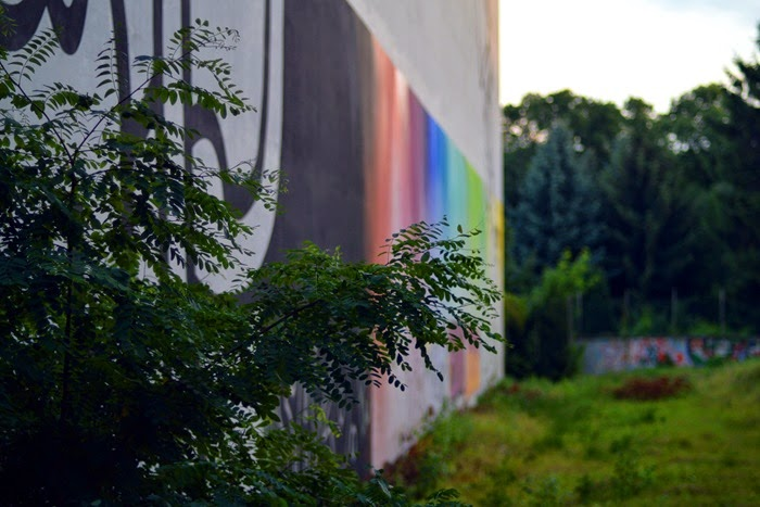 Rainbow paint drips
