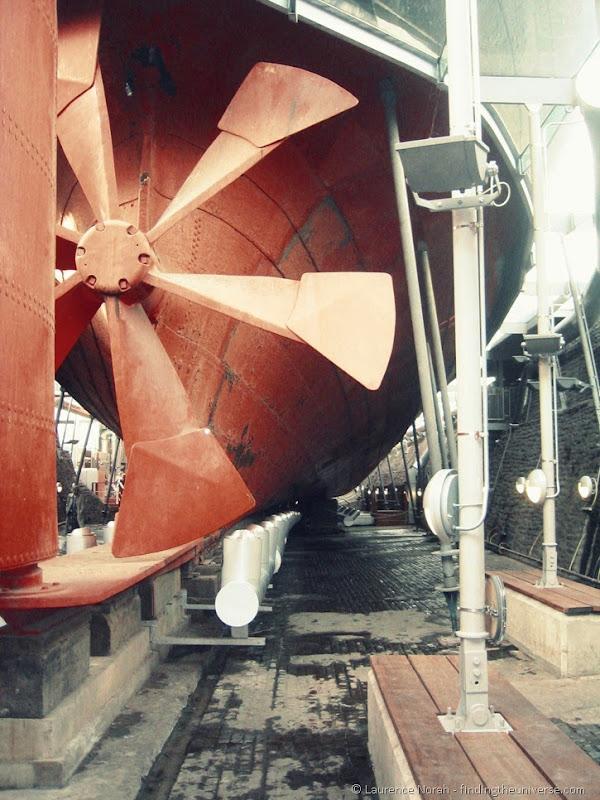 Schiffsschraube der HMS Great Britain in Bristol