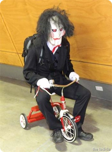 Saw Jigsaw : saw costume with bike  - Germanpascual.Com