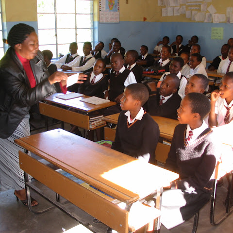 They learn all sorts of things in their simple classrooms with lessons on: Sesotho (language of Lesotho), English, Maths, Agriculture, Social Studies, Health and Home Economics.