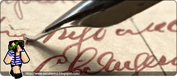 a carta com tinta vermelha