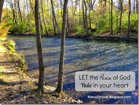 Let the Peace of God Rule in Your Heart - The Cozy Nook