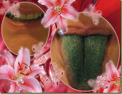 grøntunge collage