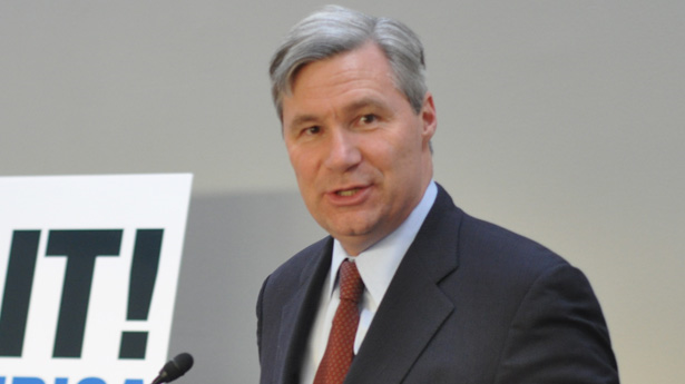 Sen. Sheldon Whitehouse (D-RI) blasted an unnamed senator for saying God would protect the Earth from climate change, on 8 May 2013. Photo: The Raw Story