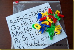 Alphabet Matchup busy bag