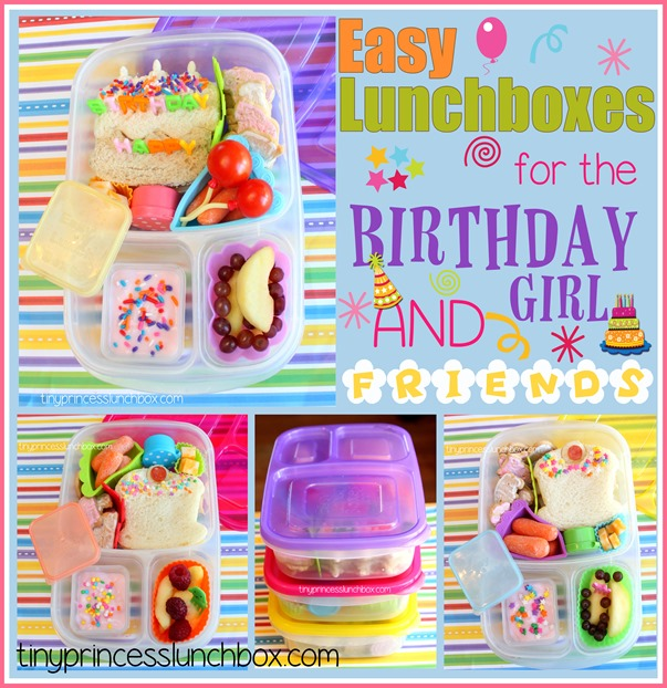EasyLunchBoxes for the birthday girl and firends!