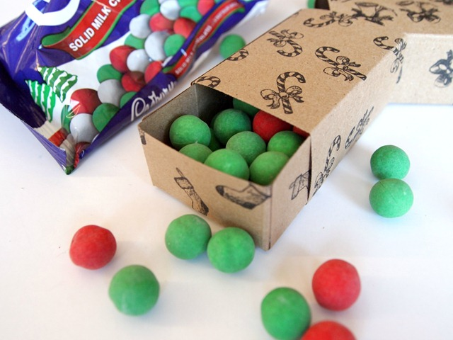 vintage treat box with candy