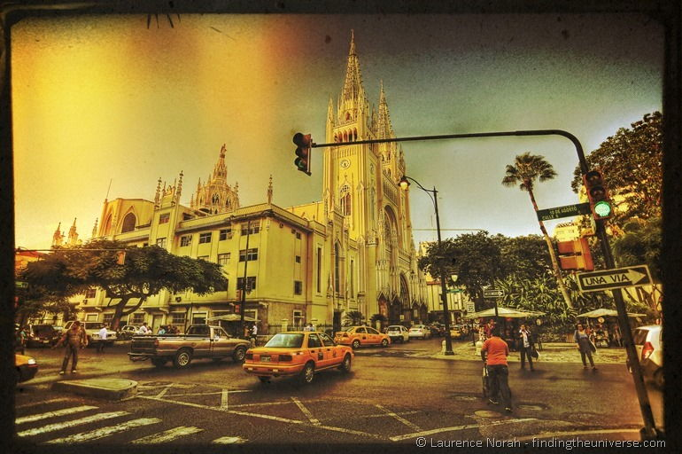Guayaquil Cathedral at sunset 2