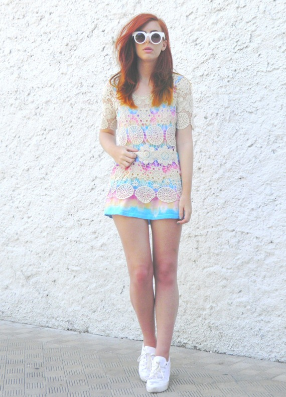 OASAP CROCHET DRESS TIE DYE