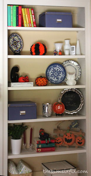 Halloween bookcase