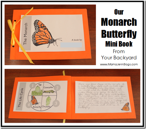 Monarch Butterfly Mini Book