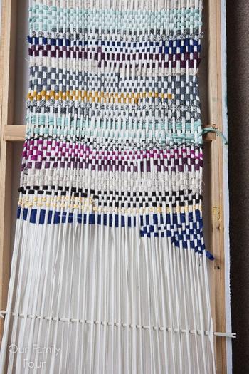 Woven Fabric Scrap Wall Art 2