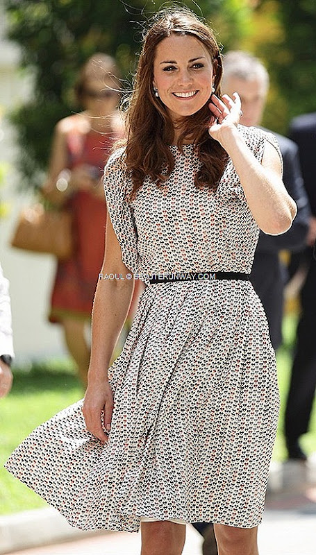RAOUL for Duchess of Cambridge Kate Middleton Raoul Tara Blouse Full Pleat Skirt Raoul Pre Fall Winter 2012 2013 Collection