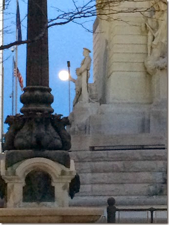 2014, 03-15 Full Moon in downtown Indy (3)