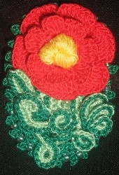 My most recent design 'Summer Flower Brooche' - 2006. The red is not